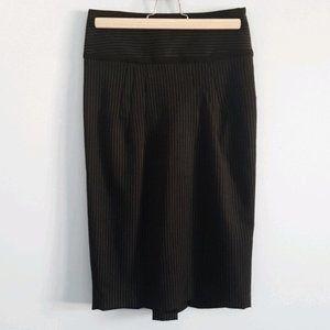 Zara black pinstripe pencil skirt